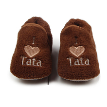 Top Brand Baby Shoes Gilrs Infant Boys Slippers Soft Sole First Walkers Plush Winter Home Wear Toddler Bebes Crib Shoes for Kids