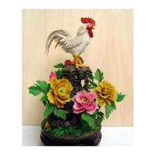 Diy diamond mosaic icons Big cock on roses diamond embroidery flowers square full diamond painting rhinestones Animal Cock