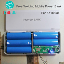 Free Welding 5S 5V 1A 2A Mobile Power Bank 5X18650 Battery DIY Kits Charger Circuit Board Step Up Boost Without Battery
