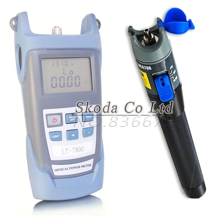 Free shipping Fiber optical power meter+1mw red laser Fiber Optical Cable Tester Visual Fault Locator with FC SC connector<br>