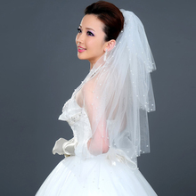 80cm Long !  Wholesale New Pearls ! Free Shipping ! Hot Sale ! Bridal Veil Wedding Veils BRIDAL ACCESORIES Flower VEIL OV3913
