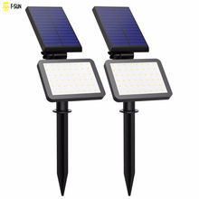 2 PACK Solar Lamp Spotlights Outdoor Lighting 48 leds Solar Light IP44 Waterproof Landscape Wall Light Adjustable for Garden