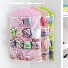 16 Pockets Clear Over Door Hanging Bag storage Shoe Rack Hanger Storage Organizer Home hang Storage of things wardrobe trunk(China)
