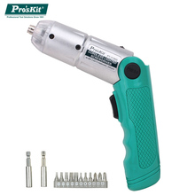 ProsKit PT-1136G Mini Electric Screwdriver Rechargeable NI-MH battery Cordless Lighted Electronic Screwdriver