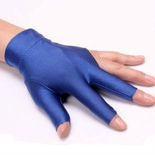Spandex billiards gloves billiards for three fingers gloves high-end exposed refers to billiards gloves Absorb sweat Breathable(China)