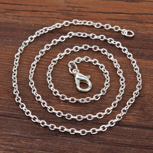 "Doreen Box Zinc Based Alloy Silver Plated Link Cable Chain Necklace 42.5cm(16 6/8"") long, Chain Size: 3x2mm, 12 PCs(China)"
