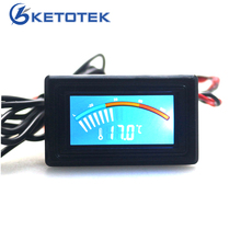 Celsius Fahrenheit Digital Pointer Thermometer Car Water Temperature Meter Gauge C/F PC MOD for Computer Case(China)