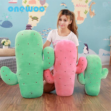 Creative Plush Red Green Cactus Sleep Pillow Plush Doll Toy Sweet Stuffed Soft Plant Sofa Cushions Toy Children Birthday Gift(China)