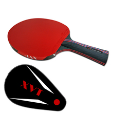XVT 40+ NANO CARBON / Black WOOD With Hurricane RUBBER Hand-Assemble table tennis racket   PINGPONG paddle Send  Cover case