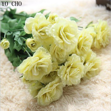 YO CHO High Quality artificial flowers wedding decoration bouquet rose silk home decoration Photo props flower mariage grass