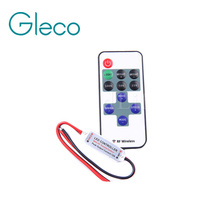 mini RF remote control Led dimmer 5V 12V 24V 11Key For Single color Led Strip Light 5050,3528,5630,5730,2835,3014,7020(China)