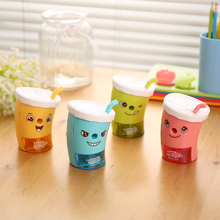 1 Pc/Lot Cute Funny Drinking-Bottle-Shaped Pencil Sharpener for School Stationery & Office Supply
