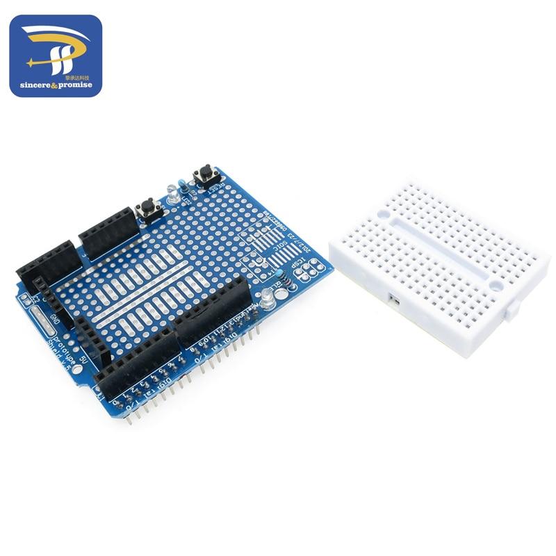 UNO Proto Shield prototype expansion board with SYB-170 mini breadboard based For ARDUINO UNO ProtoShield