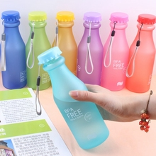 Hoomall Brand 550ML Candy Color Portable Plastic Water Bottle Tour Sport Lemon Juice Cup Bottle Drinkware High Quality BPA Free