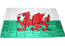 oriflamme 90x150cm Wales Flag Welsh red Dragon Cymru UK United Kingdom union flag polyester rope toggle Great Britain Banner(China)