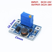 10pcs D2-24V to 2-28V 2A DC-DC SX1308 Step-UP Adjustable Power Module Step Up Boost Converter(China)