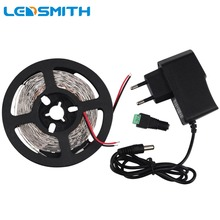 LED Strip 5M 300leds 3528 SMD LED Ribbon with DC 12V 1A Power Adapter Supply Flexible Ledstrip Light for Home Decoration