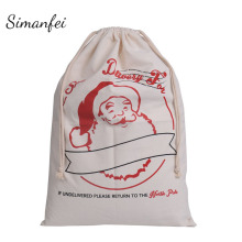 Simanfei Christmas Storage Bag 2017 New Year Gifts Bags Festival Party Ornament Santa Claus Toys Gifts Storage Bag Xmas Decor