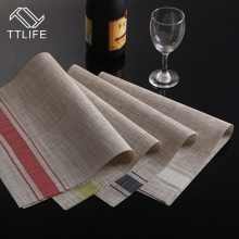 TTLIFE 2PC 45X30CM Non Slip Insulation Placemat Quality PVC Table Placemat Large Dinner Mat Set of Table Mats Fashion Dining Mat(China)