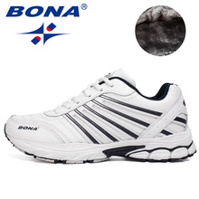 BONA  New Excellent Style Men Running Shoes Lace Up Athletic Shoes Outdoor Walking Shoes Men Comfortable Sneakers Free Shipping