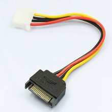 1pcs Serial ATA SATA 4 Pin IDE Molex to 15 Pin HDD Power Adapter Cable New Y Splitter Dual Hard Drive Cable Hot Worldwide