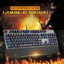 Motospeed CK108 Wired Mechanical Keyboard Russian Gaming Keyboard with RGB 104 Keys 3 Backlit Modes for Computer teclado mecanio