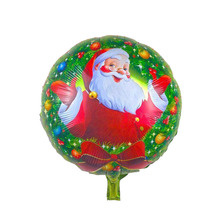 18 Inch Santa Claus Round Foil Balloons Xmas Ornament Inflatable Toys Air Balloons Merry  Christmas Decorations Party Supplies