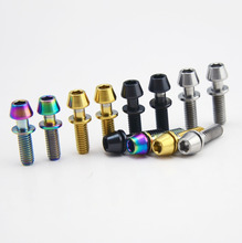 Titanium Ti Bolt Screw Allen Hex Taper Screws Bolts  with Washers for Ritchey C260 Bicycle Stem 7Pcs /Lot