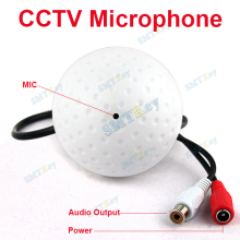 SMTKEY Wide Range 10 to 120 Square meters CCTV MIC Microphone RCA Output for CCTV Security Camera Audio