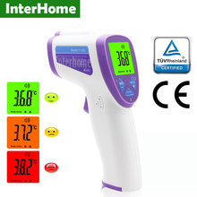 Medical Adult Forehead Fever Digital Body Thermometer For Baby Diagnostic Tool Non-contact Object Ear Infrared Laser Thermometer(China)