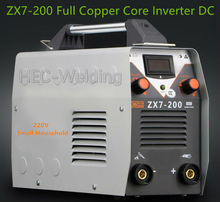 ZX7-200 full copper core small home 220V ARC MMA Welding Machine 200A Phase Welder DC Inverter Digital Dsplay welding apparatus(China)