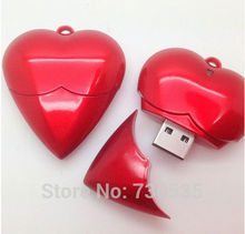 00!Best qualityred colour heart  U disk usb flash drive 2GB-64GB  flash driver usb 2.0 memory stick pen drive  s517