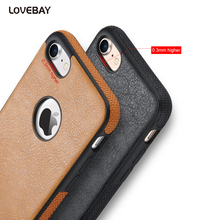 Lovebay For iPhone 7 Case PU Leather Phone Protective Cases For iphone 6 6s Plus 5 5s SE Soft TPU Back Cover Capa Coque Fundas(China)