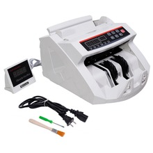 New LCD Display Money Bill Counter Counting Machine Counterfeit Detector UV & MG Cash Bank Detector High Quality