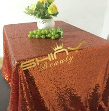 SALE  50''*50'' Orange Sequin Table Cloth Cover 4FT table Rectangle Wholesale Table Cloths Sparkly Table Sequin Linens
