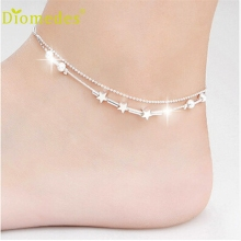 Diomedes Gussy Life wholesale elegant Little Star Ladies Chain Ankle Bracelet Barefoot Sandal Beach Foot Jewelry for leg Dec622