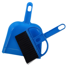 Desktop Keyboard Clean Mini Brush Dust Pan Set Blk Blue(China)