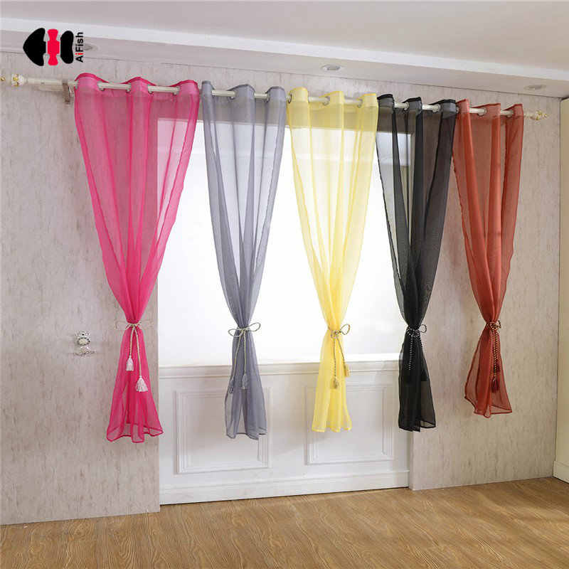 Rainbow Colorful Voile Curtains Terylene Wedding Party Cinema Curtain Background Bedroom Window Screen Gauze 184D