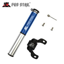 Aluminum Alloy Pump Pro Star Portable Bicycle Mountain Bike Pump Tire Inflator Mini Pump 100PSI JG-1007
