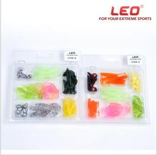 LEO 2017 New Worm Swimbait Jig Head Soft Lure Fly Set Mixed Pesca Isca Artificial Fishing Lures Floating Accessories Spiner(China)