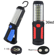 Portable Light 36 + 5 LED Flashlight USB Charging Work Light Magnetic + HOOK + Mobile Power for Can help phone charge Emergency