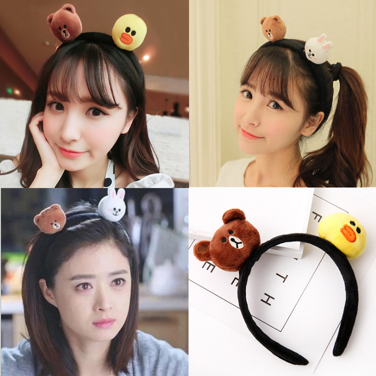 kids baby infant child girls and Mom Cute little rabbit bear headwrap hair bands Small yellow duck elastic ribbon headband Accessories (9)