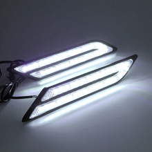 Car Styling Waterproof 33 LEDs DRL Super Bright DRL Car daytime LED light Universal Car Daytime Running Lights(China)