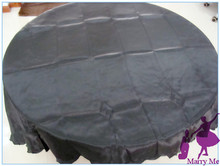 10pcs wedding satin black tablecloth 90'' for wedding supply
