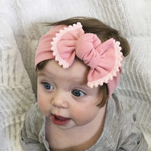 Bebe girls Headband Bow Tie Head bands Children Kids Elastic Hair bands Turban Knot Headwrap Hair Accessories