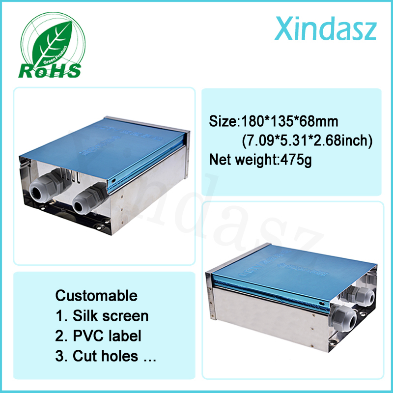 180*135*68mm Monitoring equipment Outdoor Box Outdoor surveillance assembly box waterproof Stainless steel Distribution Box<br>