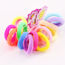 5PCS/Lot New Kids Small Hair Ropes Candy Colors Elastic Hair Bands Rubber Bands Girls Ponytail Holder Hair Accessories Tie Gums