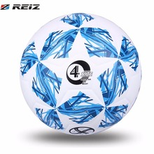 REIZ Football Soccer Ball 20CM Size 4 White & Blue Color Students Adult Football Training Competition Balls Slip-Resistant(China)