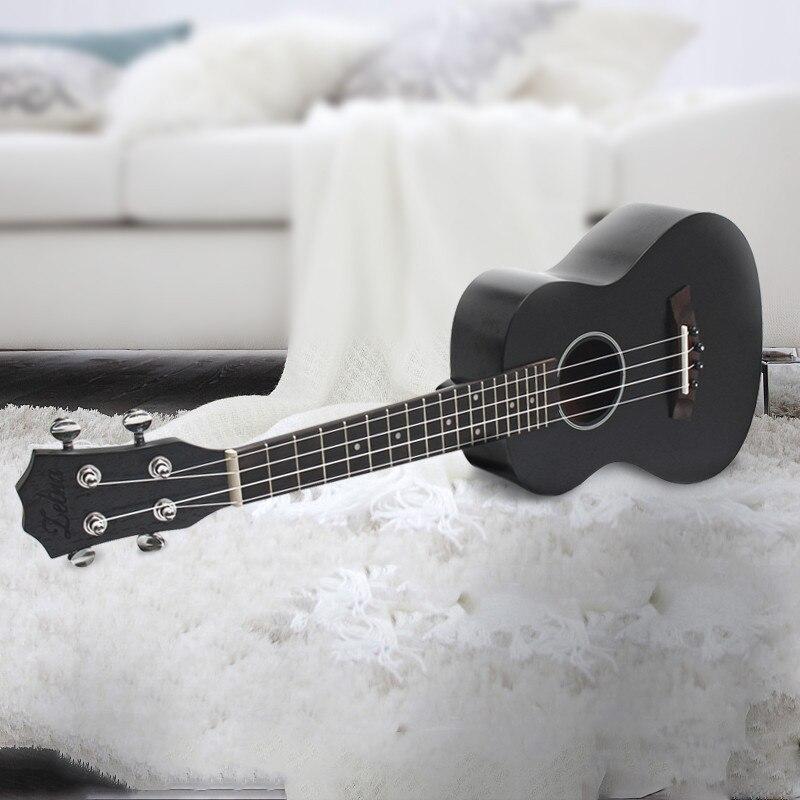 Zebra 23 Inch Black Rosewood Fingerboard Concert Ukulele 4 Stringed Sapele Hawaii Ukelele Guitar<br>