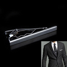 2016 Fashion Metal Silver Simple Necktie Tie Bar Clasp Clip Clamp Pin for men gift(China)